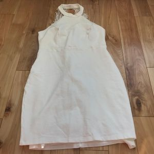 White Body Con Dress Size L